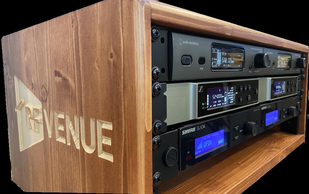 Analog and Digital Mics RF Venue SLX-D EW-D AT 3000
