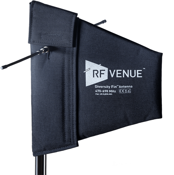 rf venue diversity fin antenna for professional wireless sound set up