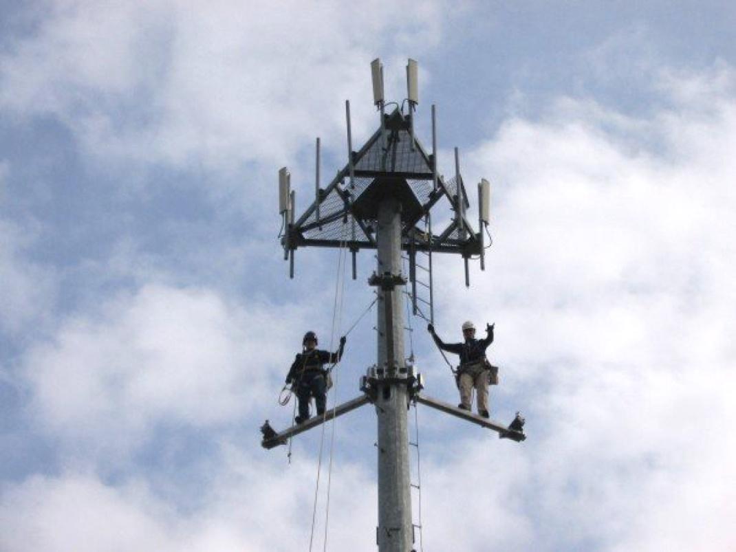 guys on tower